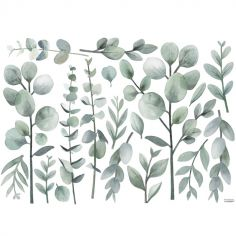 Grand sticker Greenery tiges et feuillages (90 x 64 cm)