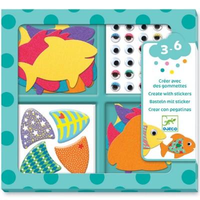 Atelier de gommettes J'aime les poissons Djeco