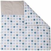 Housse de couette pour berceau Mixed Stars Mint (80 x 80 cm) - Little Dutch