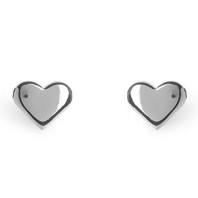 Boucles d'oreilles Full coeur (argent 925°)  par Coquine