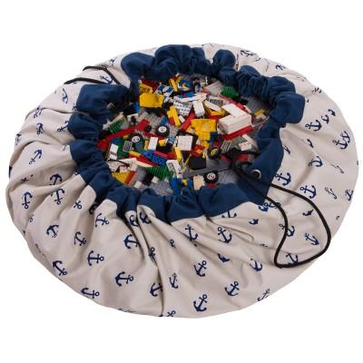 Sac à jouets 2 en 1 ancres bleues  par Play&Go