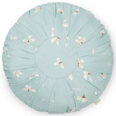 Coussin rond Windflower Blue (40 cm)