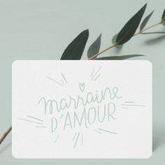 Petite carte Marraine d'Amour