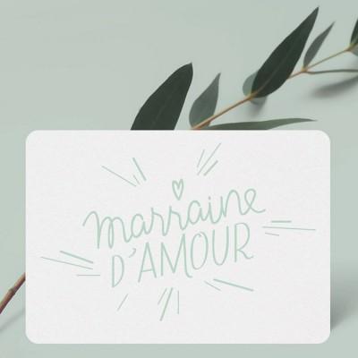 Petite carte Marraine d'Amour  par Catho Rétro
