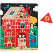 Puzzle à encastrement maison Les Bambins (7 pièces) - Moulin Roty