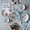 Assiette plate Yummy Dots Plus Elphee rose  par Done by Deer