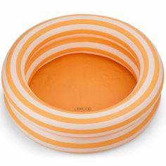 Petite piscine gonflable Leonore rayures jaune