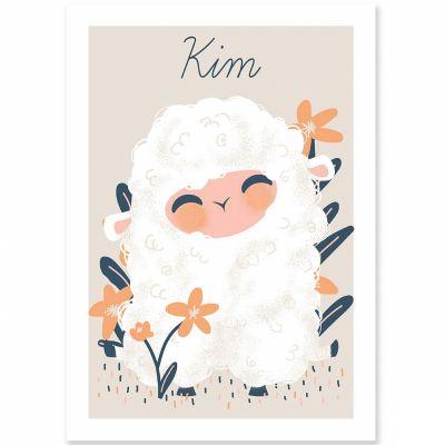 Affiche A4 les Animignons le mouton (personnalisable)  par Kanzilue