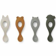 Lot de 4 cuillères en silicone Liva  hunter green mix