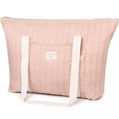 Sac à langer Paris White bubble Misty pink  par Nobodinoz