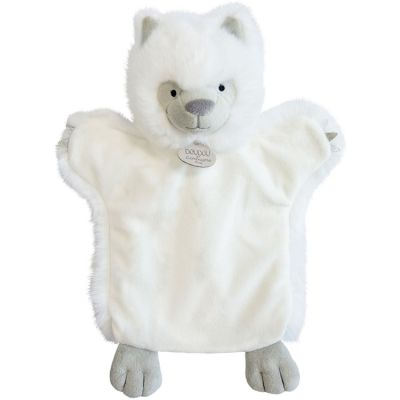 Doudou marionnette Loup blanc  par Doudou et Compagnie