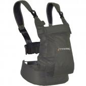 Porte bébé ventral et dorsal Dynamic en coton gris - Minimonkey