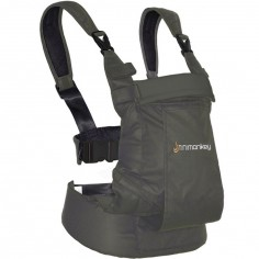 Porte bébé ventral et dorsal Dynamic en coton gris