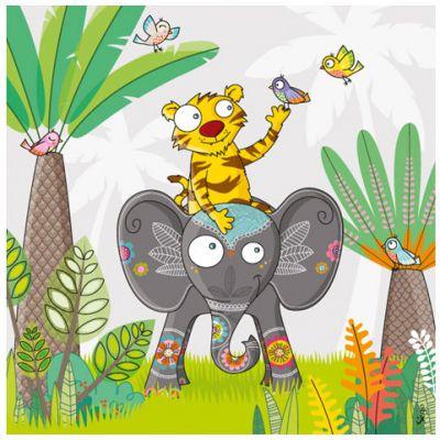 Tableau à dos d'éléphant (20 x 20 cm)  par Série-Golo
