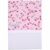 Drap de berceau fleurs Pink blossom (70 x 100 cm) - Little Dutch