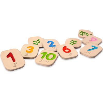 Apprendre les chiffres en braille  par Plan Toys