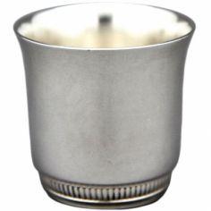 Coquetier évasé Godrons personnalisable (métal argenté)