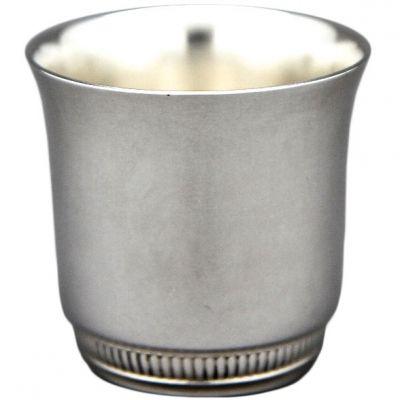 Coquetier évasé Godrons personnalisable (métal argenté)  par Aubry-Cadoret