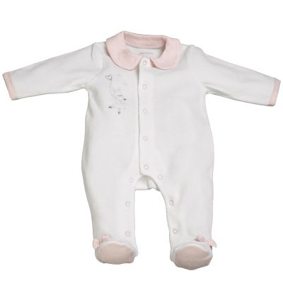 Pyjama chaud Lilibelle blanc (Naissance)  par Sauthon