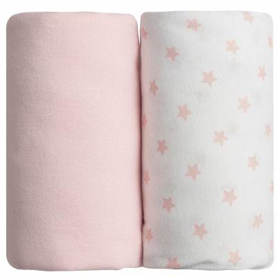 Lot de 2 draps housses étoile rose (60 x 120 cm)  par Babycalin