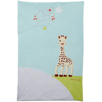 edredon couvre lit sophie la girafe 100 x 150 cm. Black Bedroom Furniture Sets. Home Design Ideas