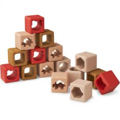 Blocs de construction en silicone Loren Rose multi mix (16 blocs)
