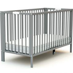 Lit pliable en bois de hêtre Essentiel Plus gris (60 x 120 cm)