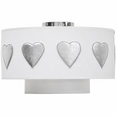 Abat-jour blanc Hearts Silver (diamètre 35 cm)