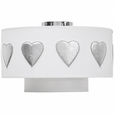 Abat-jour blanc Hearts Silver (diamètre 35 cm)  par Taftan