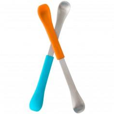 Lot de 2 cuillères 2 en 1 Swap bleu et orange