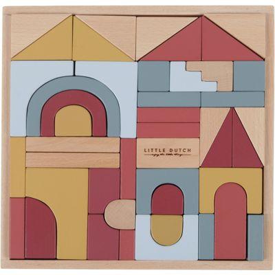 Blocs de construction en bois Pure & Nature (47 pièces)  par Little Dutch