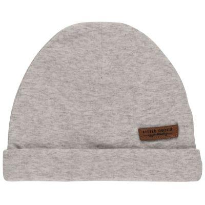 Bonnet de naissance gris  par Little Dutch