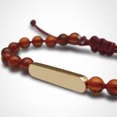 Bracelet Maracas perles (or jaune 750° et ambre)  par Mikado