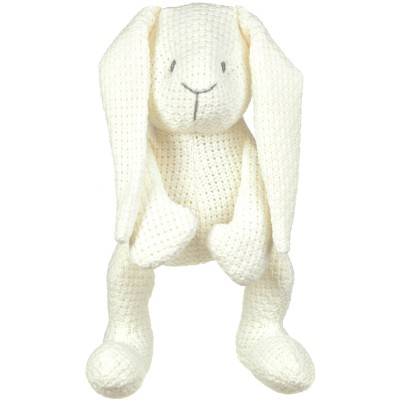 Peluche lapinou Robust Maille blanc (30 cm) Baby's Only