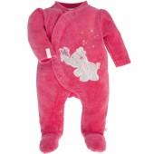 Pyjama chaud Anna et Pili rose framboise (3 mois : 62 cm) - Noukie's