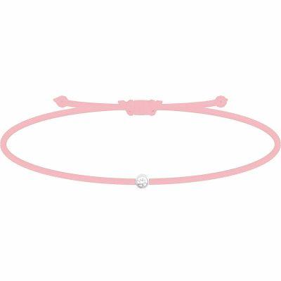 Bracelet diamant Mon Petit Diam's rose clair (argent rhodié 925°)  par My First Diamond