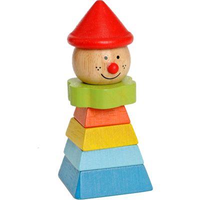 Pyramide en bois clown à empiler EverEarth