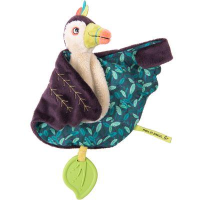 Doudou de dentition Pakou le toucan Dans la Jungle  par Moulin Roty
