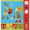 5 pochoirs à dessin Chevaliers  par Djeco