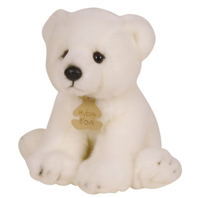 Peluche ours polaire Prestige (20 cm) Histoire d'Ours
