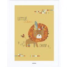 Affiche encadrée Indians the little chief (30 x 40 cm)  par Lilipinso