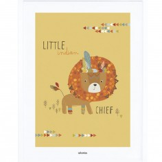 Affiche encadrée Indians the little chief (30 x 40 cm)