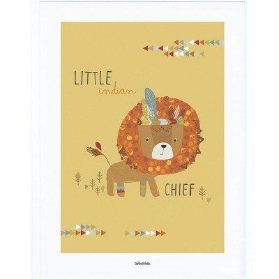 Affiche encadrée Indians the little chief (30 x 40 cm)  par Lilipinso