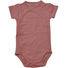 Body manches courtes rose foncé (8-12 mois : 75-80 cm)