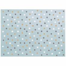 Tapis Garon Bleu Pois 140 X 200 Cm Lorena Canals
