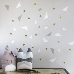 Stickers muraux Triangle gris et blanc