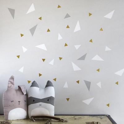 Stickers muraux Triangle gris et blanc  par Chispum