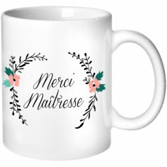 Mug Maîtresse Fleurs (personnalisable)