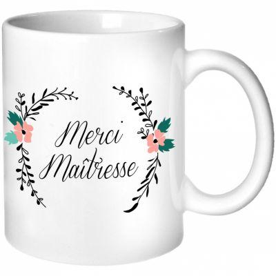 Mug Maîtresse Fleurs (personnalisable)  par Les Griottes