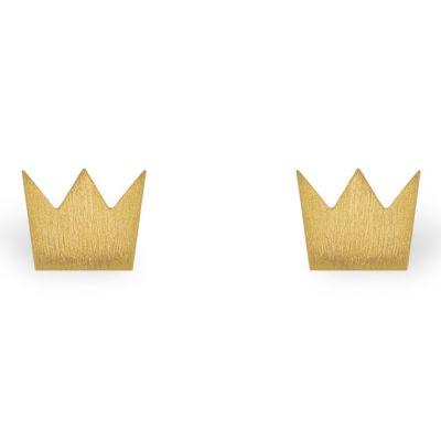 Boucles d'oreilles Full couronne (vermeil doré)  par Coquine